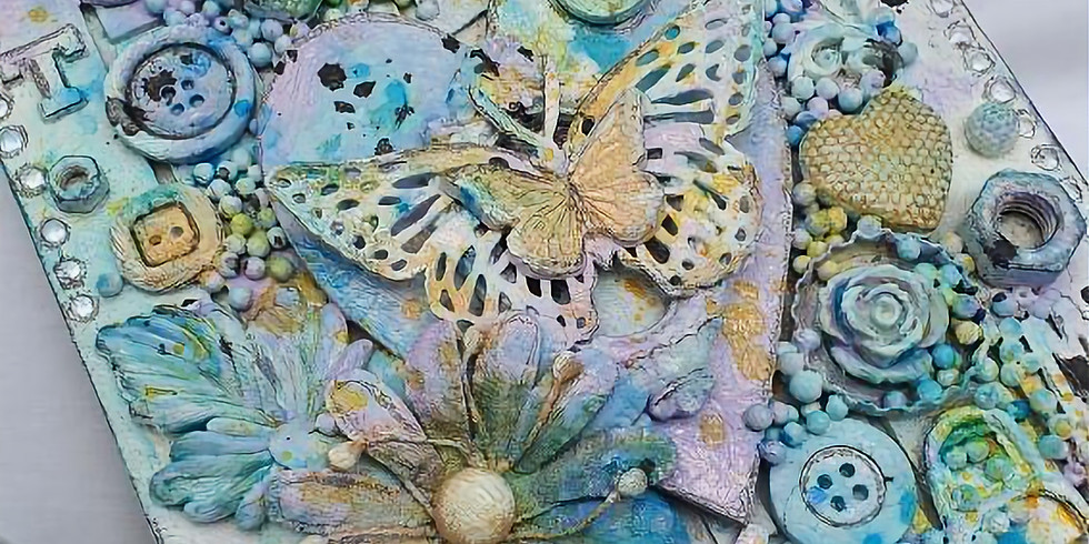 Mixed-media collage workshop. (R395)