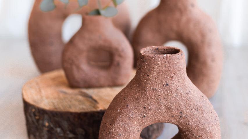 Hand Built Flower Vases- Marisa Du Toit