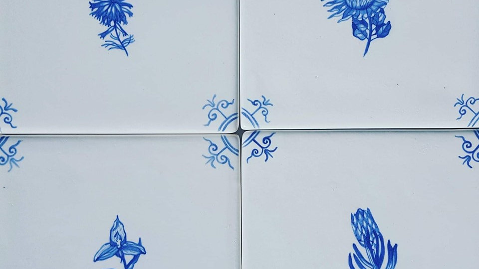 Blue and White Tiles 100mmx100mm