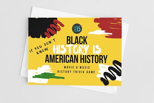 Black History Movie & Music Trivia Game