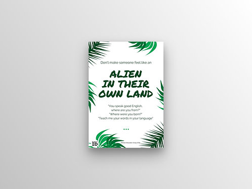 Alien In Their Own Land Poster