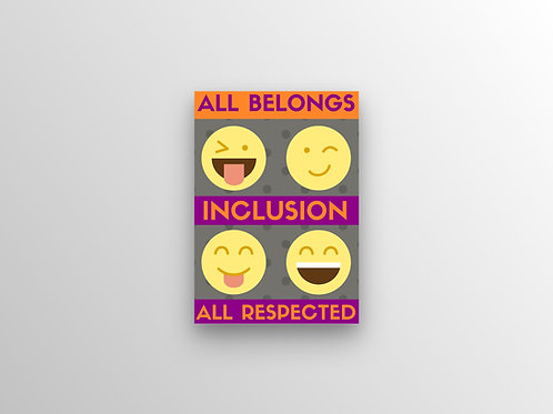 All Belongs All Respected Inclusion Poster