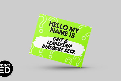 Student Grit & Leadership Dialogue Deck