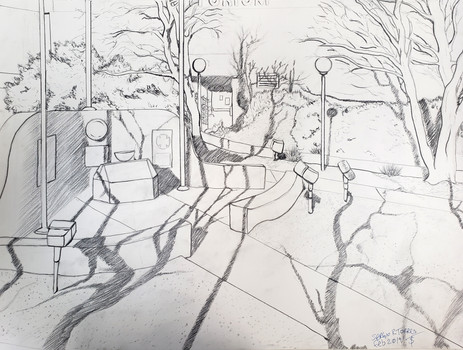 Landscape Composition (Drawing I, 2019)