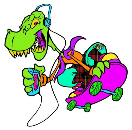 Dino Skater in Plaid