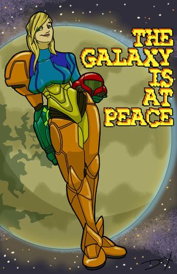 "The Galaxy is at Peace: Samus (8.5"" x 11"")"