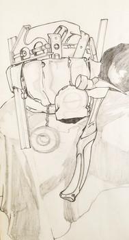 Contour Line Still Life (Drawing I, 2019)