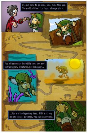 'Ichi & the Garden Nymph: Page 01'