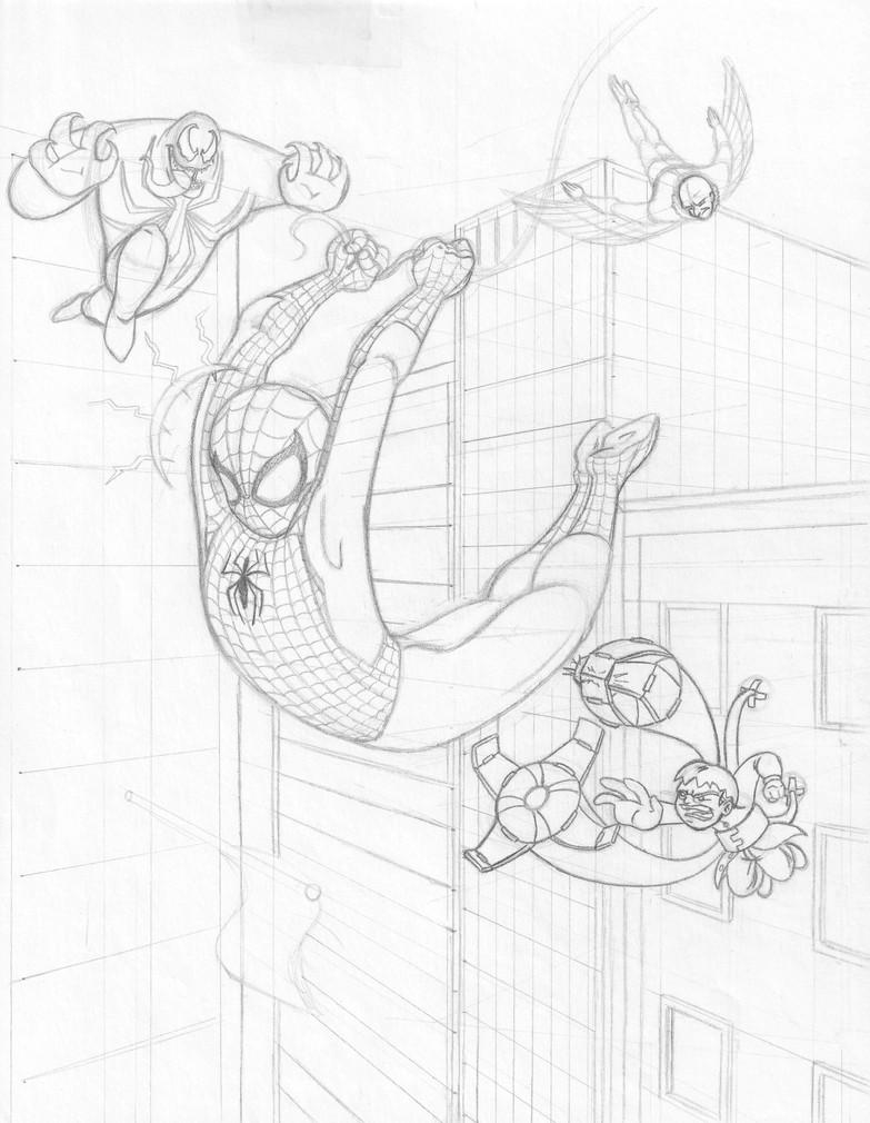 "Spidey Swing (8.5"" x 11"", Original Pencils)"