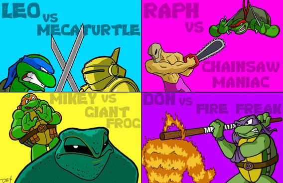 "TMNT vs. NES Baddies (11"" x 17"")"