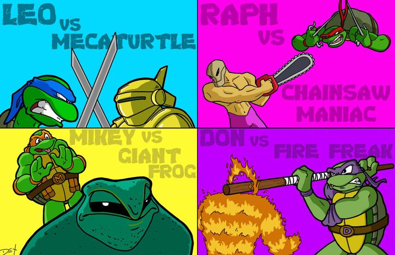 TMNT vs. NES Baddies