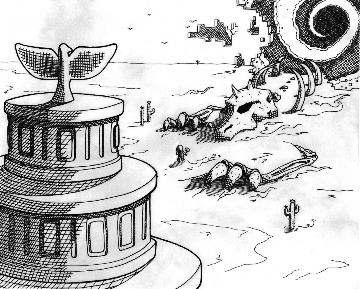 "Owari Desert (8.5"" x 11"", Print)"