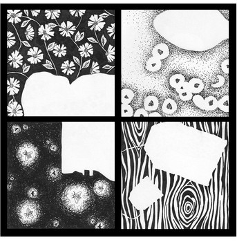 Positive vs. Negative Space: Breakfast Theme (Basic Drawing, 2017)
