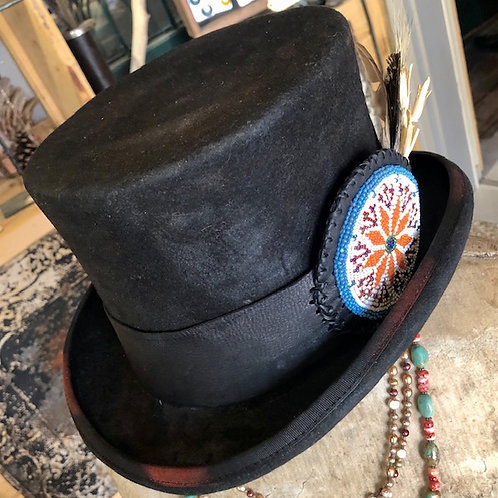 One of a Kind Beaded Top Hat