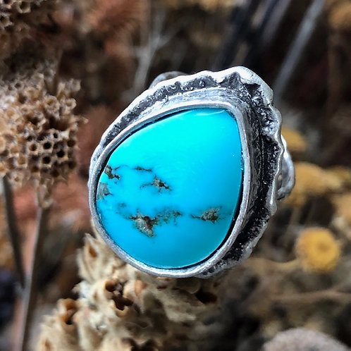 New Mexico Turquoise Cocktail Ring