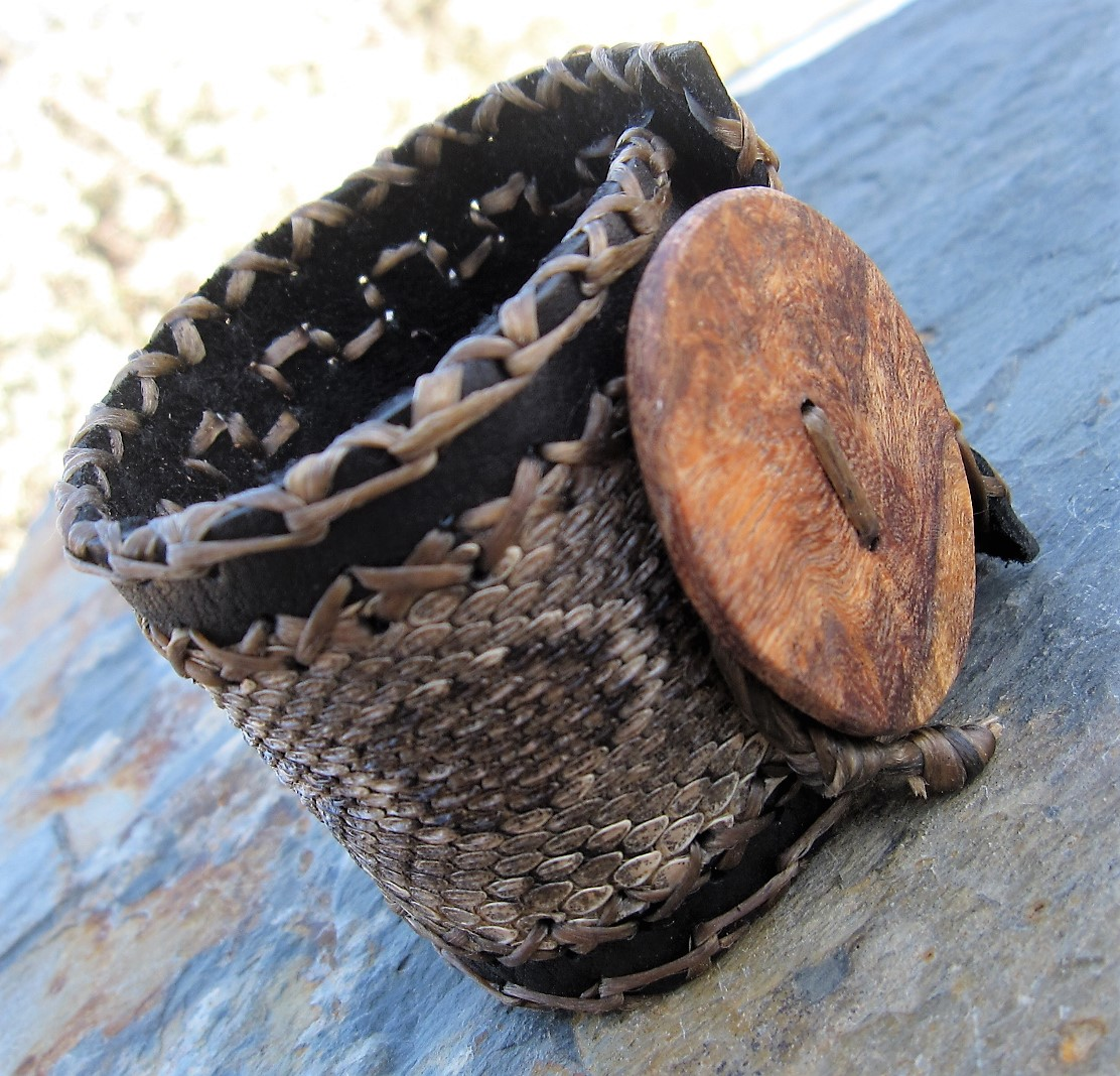 Snakeskin Leather Cuff
