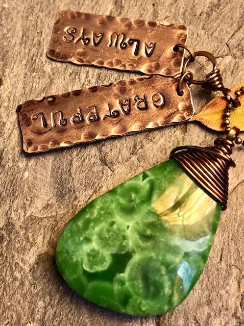 Jade + Always Grateful + Necklace