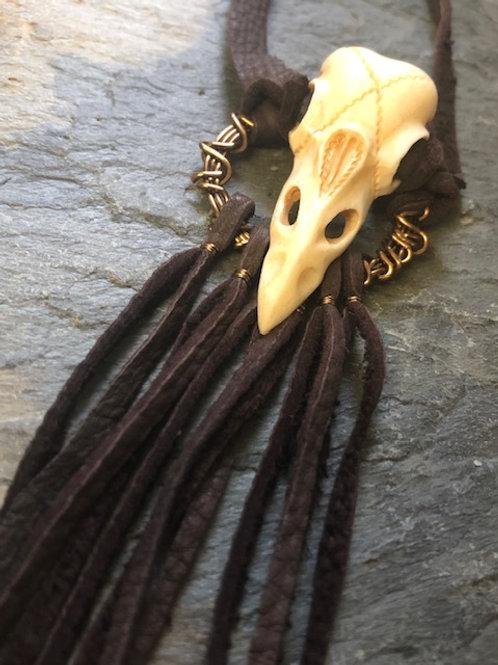 Raven Skull Choker