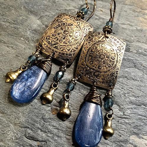 Prayer Wheel + Earrings
