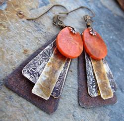 Desert Metal Earrings
