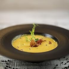 Crema di Zucca con Prosciutto di Parma