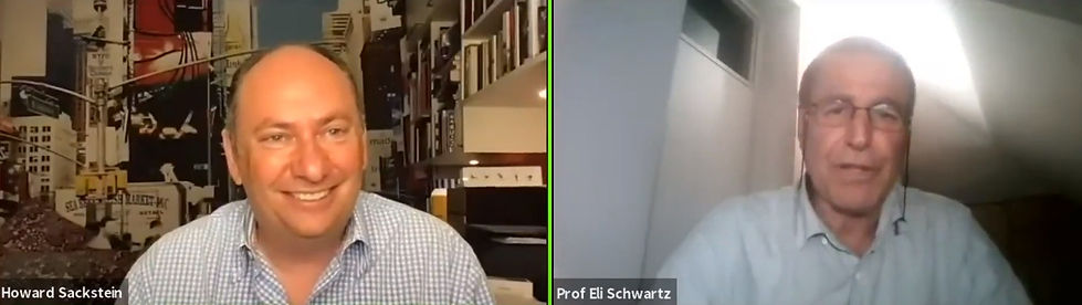 Prof Eli Schwartz Interviewed Howard Sac