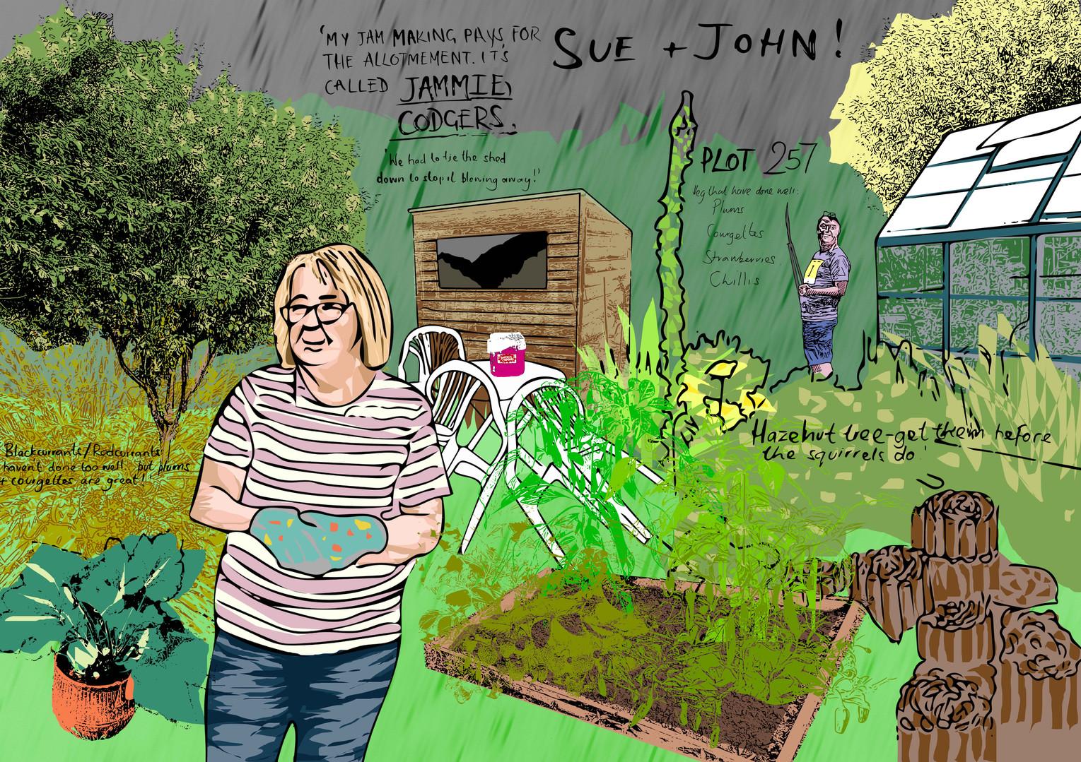 Sue and John
