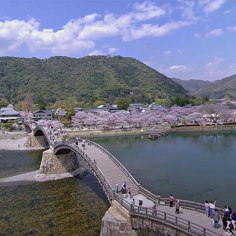 12K 360°ドローン空撮 〜岩国市錦帯橋VR〜