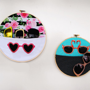 DIY Embroidery Hoop Sunglasses Holder