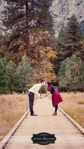 Yosemite engagement photo