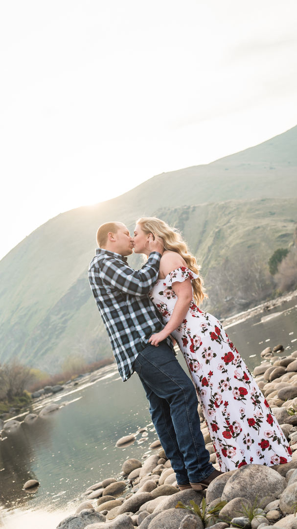 Sanger river Engagement photo