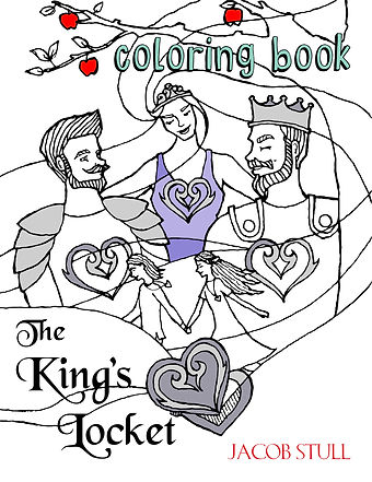 The King' Locket Coloring Book Front Cover