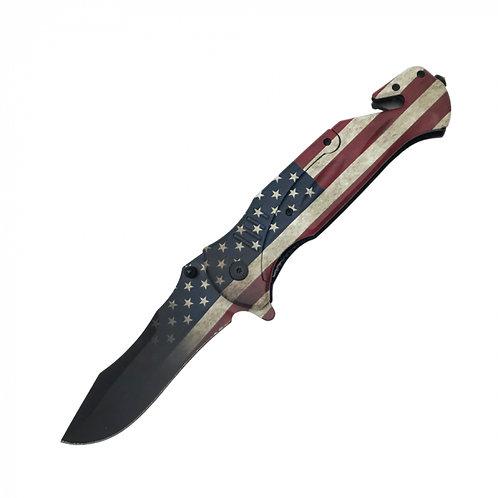 """American Flag 10.5"""" Knife"""