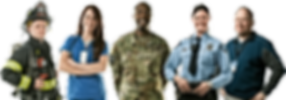 Firefighter Doctor Military Soldier POlice Officer Civilian