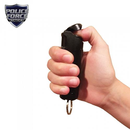 Police Strength 23 Pepper Spray 1/2 oz Flip Top BLACK