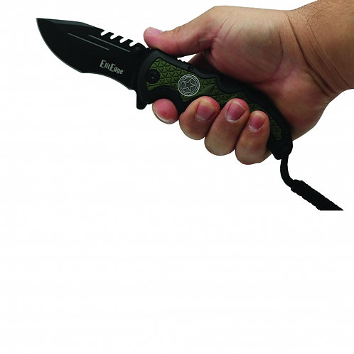 Army Folding Knife Assisted Open w/Belt Clip & Paracord