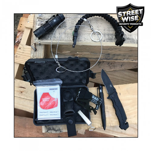 Streetwise Survival Kit: 9 Items w/25 Functions
