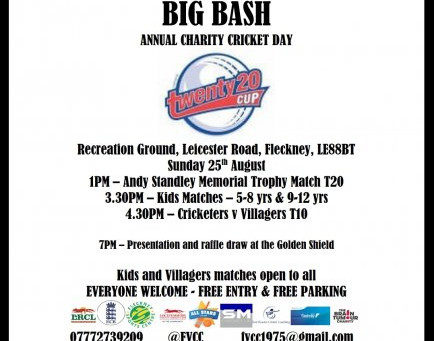FVCC BIG BASH THIS SUNDAY