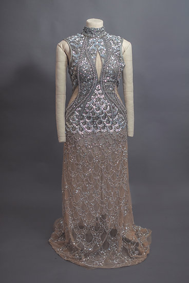 A Star Is Born Beaded Gown