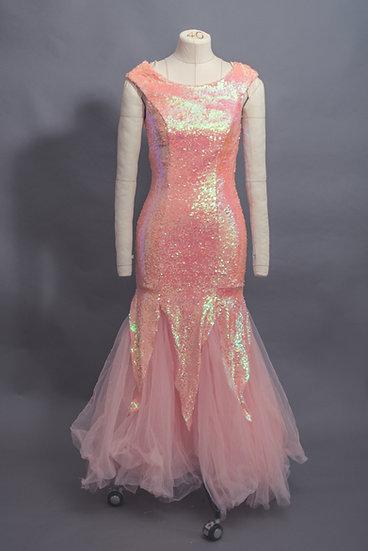 Pink Sequin Mermaid Gown