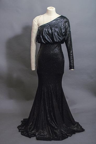 Black Sequin Mermaid Gown
