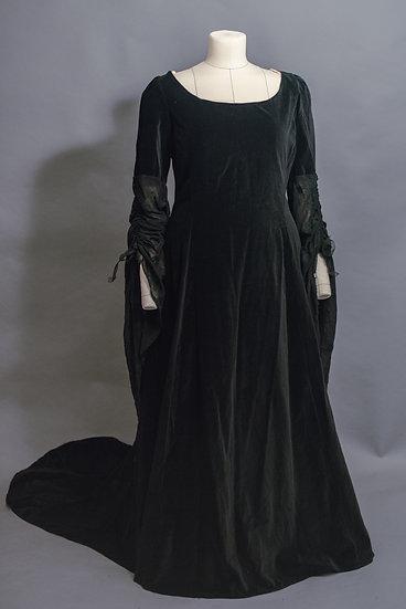 Black Velvet Elven Gown