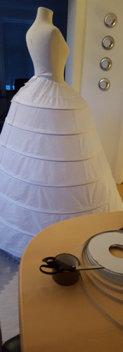 Extra steel was added to the hoop skirt