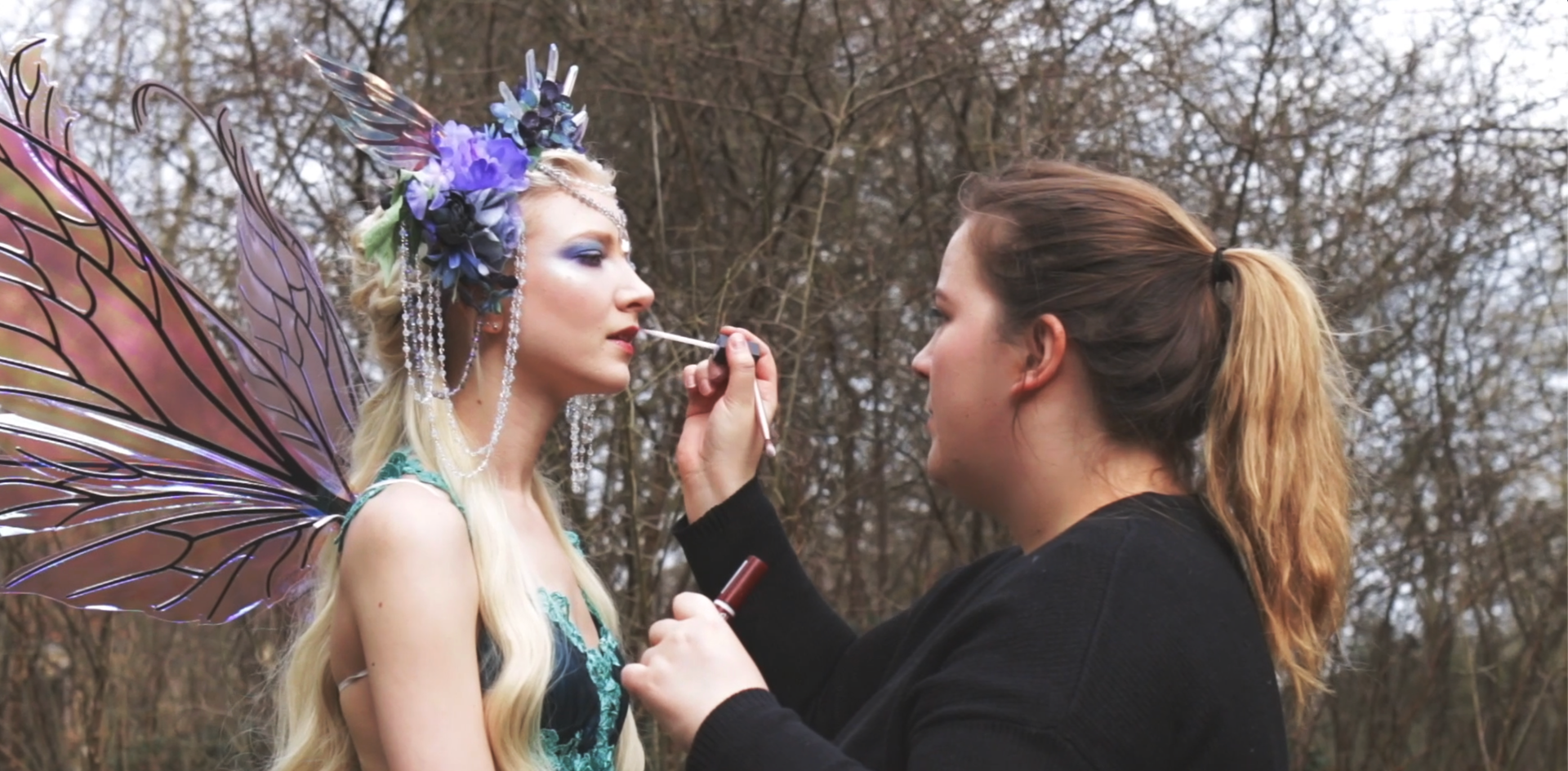 Makeup on location with Maria Amanda