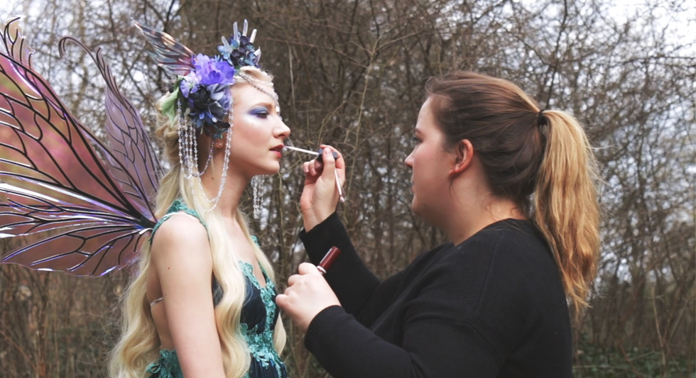 Makeup on location with Maria Amanda