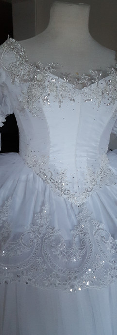 More crystals were added to the bodice