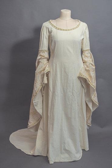 Ivory Velvet Elven Gown