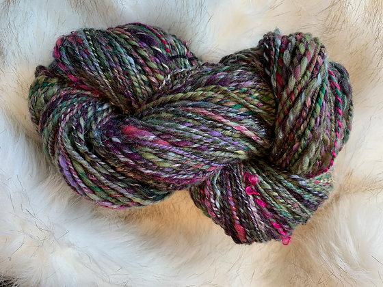 Sparkly merino yarn
