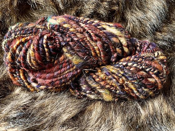 Funky earth tones yarn