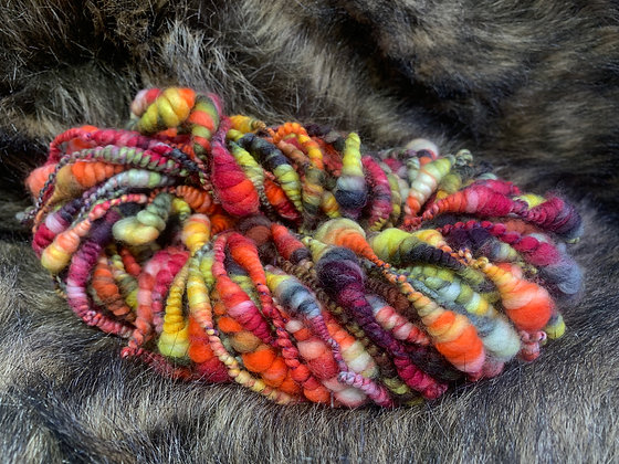 Super coiled art yarn